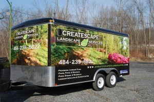 Createscape Landscaping Trailer Wrap