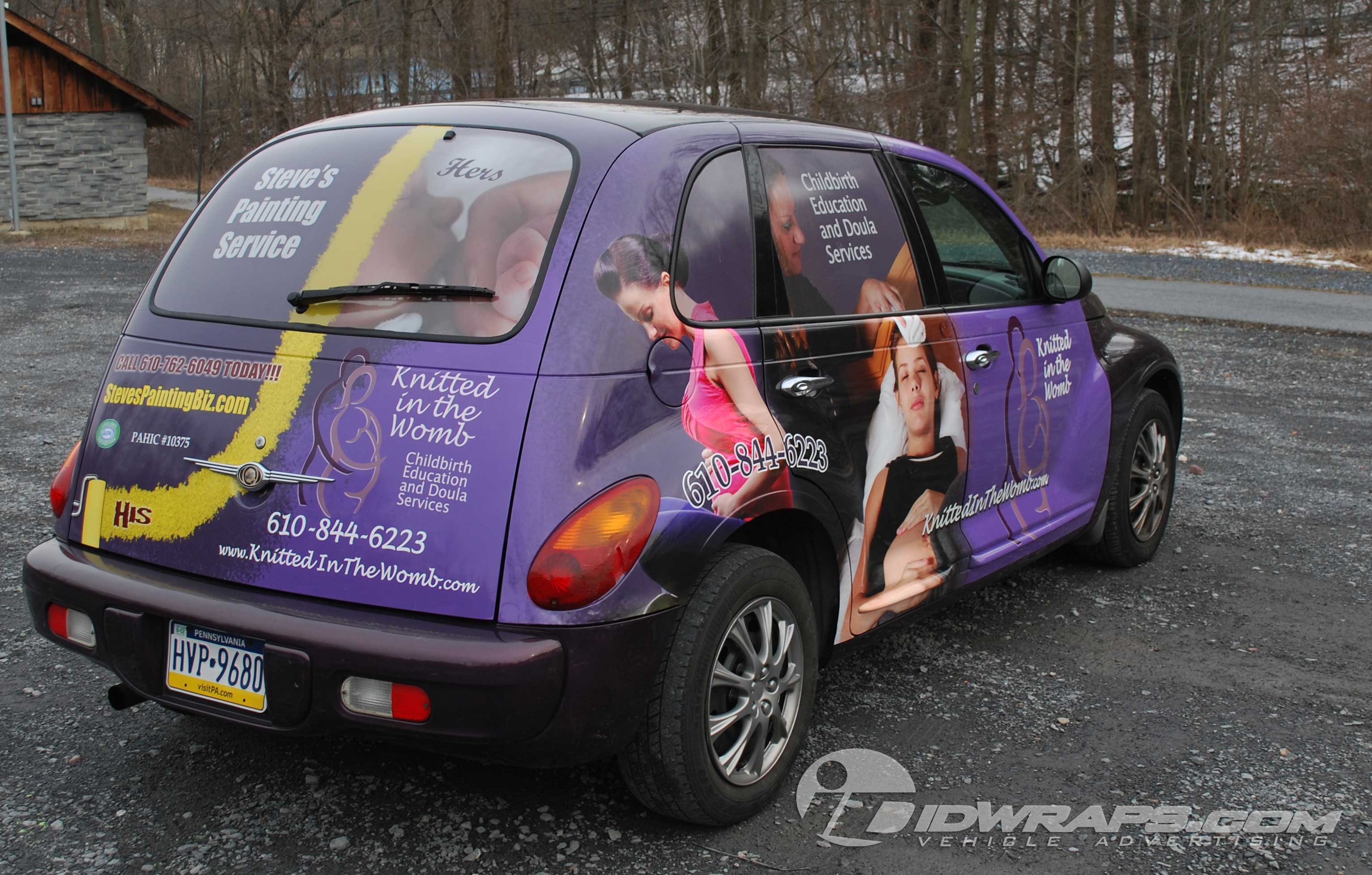 Pt Cruiser Wrap For Painting Business In Allentown Pa