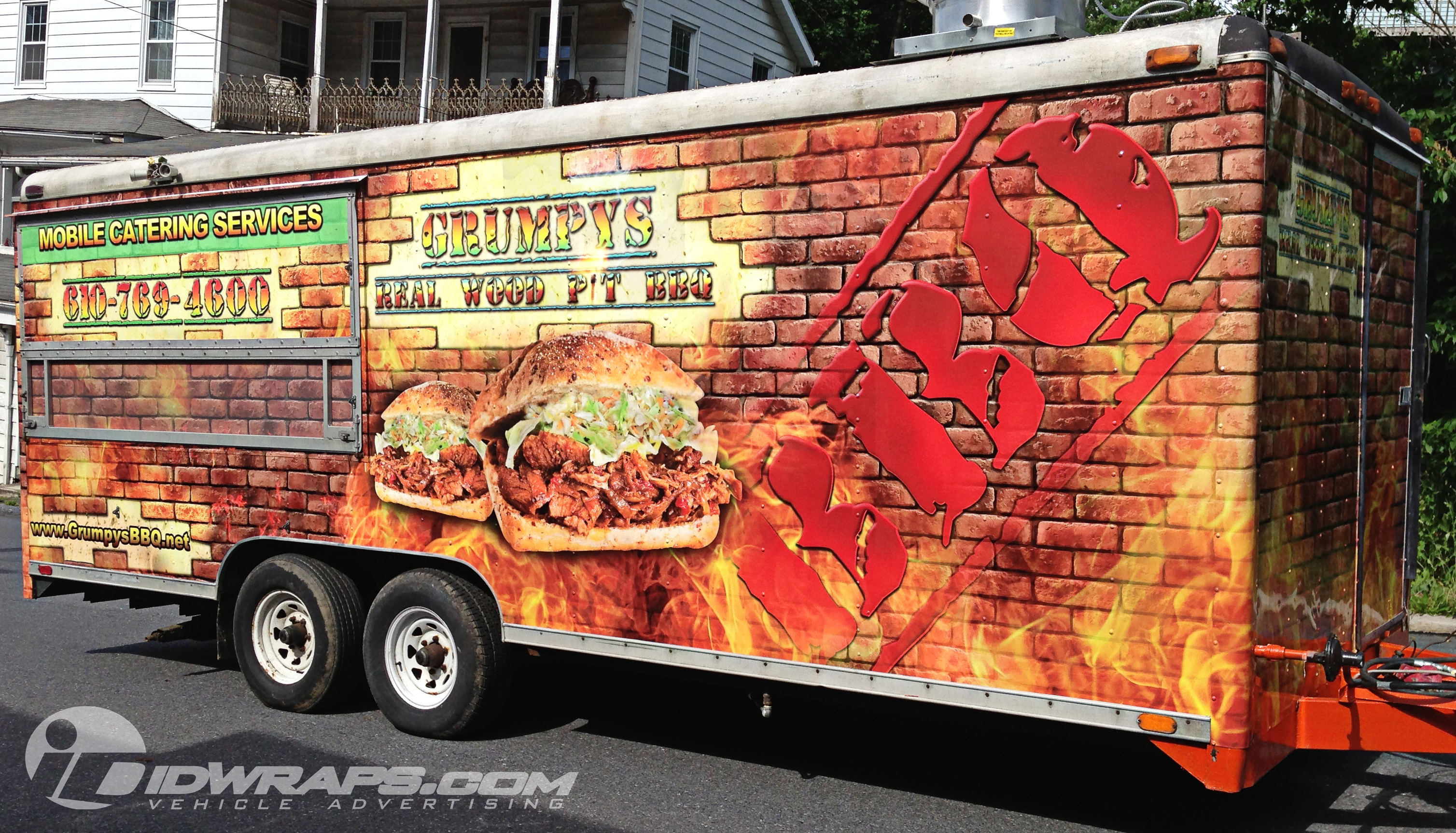 3m Vinyl Concession Trailer Wrap For Bbq In Whitehall