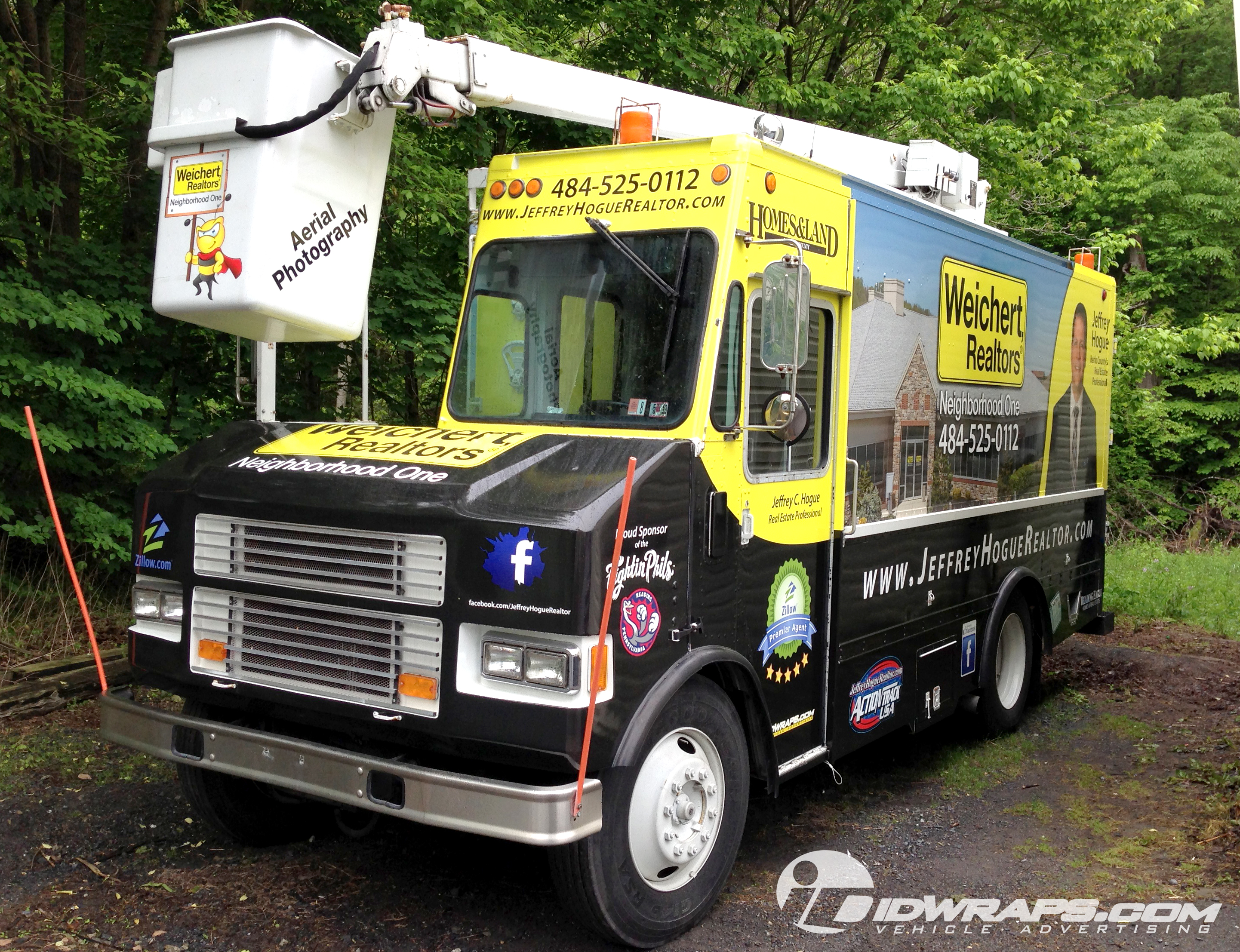 3m Bucket Truck Wrap For Realtor In Wyomissing Pa Idwraps