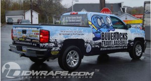 Truck Wrap for Baseball Team
