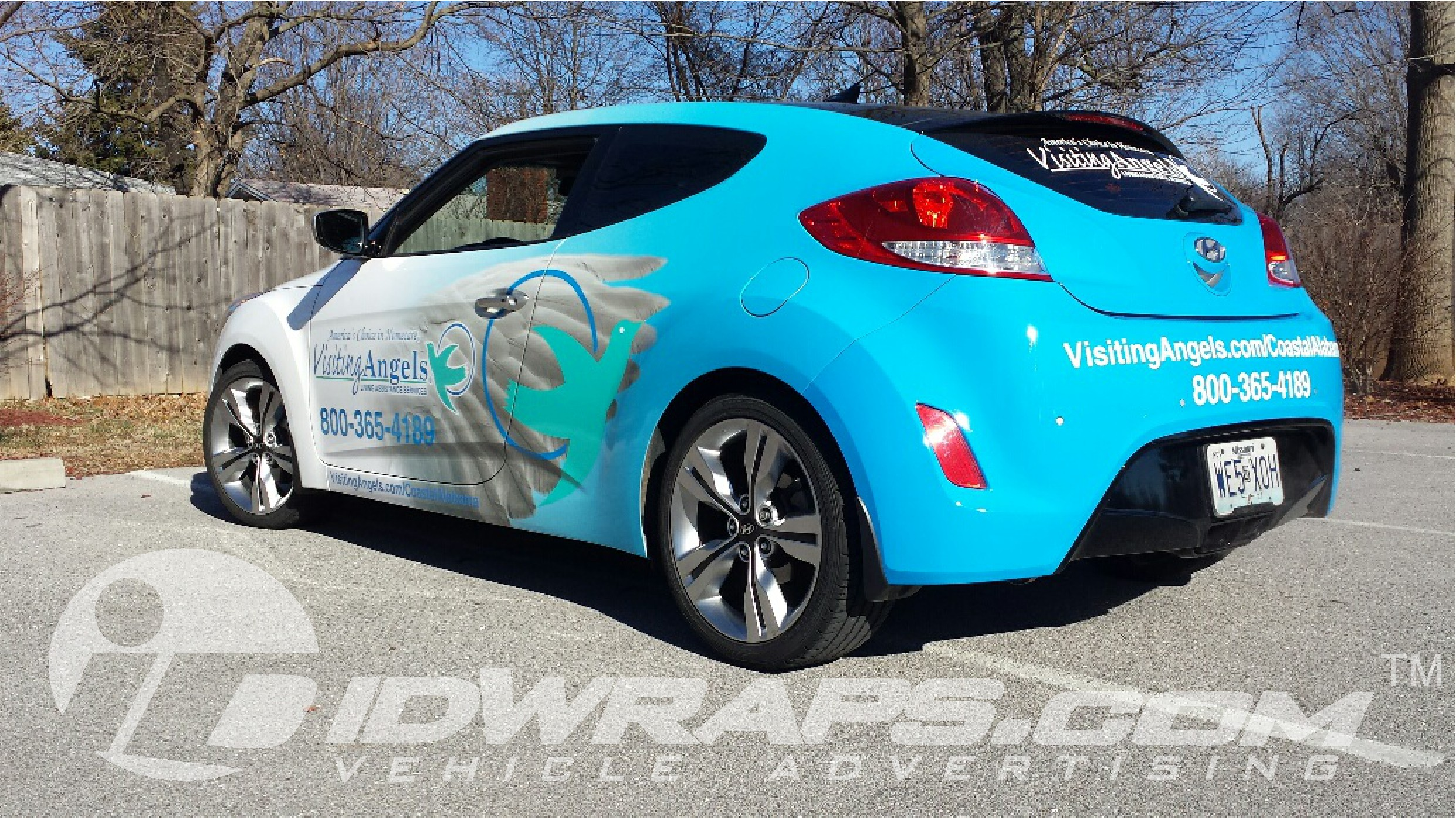 3m Certified Hyundai Veloster Wrap Visiting Angels Joplin