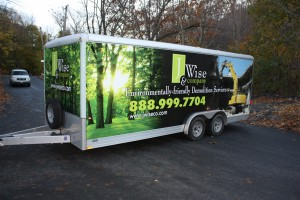Demolition Company Cargo Trailer Wrap
