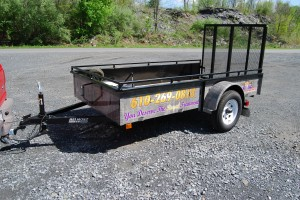 landscaping trailer wrap for HVAC