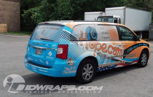 Mini van wrap