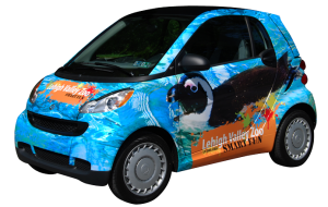 Lehigh Valley Zoo Smart Car Wrap