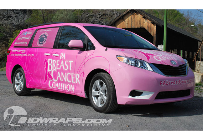 PA Breast Cancer Coalition Toyota Sienna Wrap