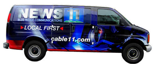 Blue Ridge Communications News 11 Van Wrap