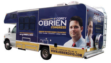 O'Brien for Congress RV Wrap