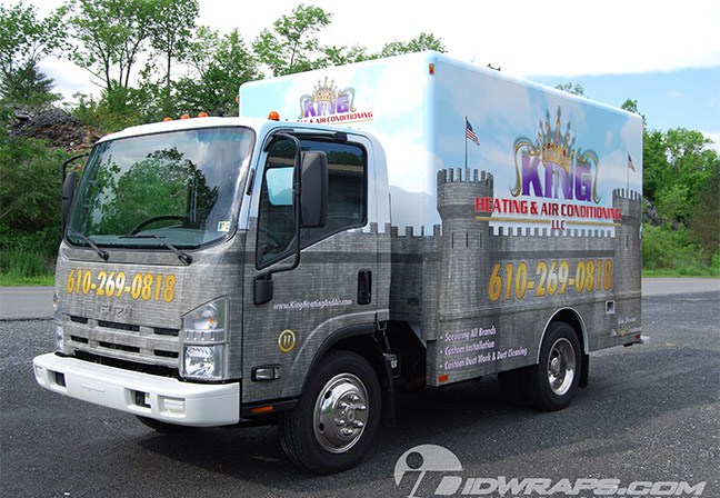 king-heating-and-air-conditioning-truck-wrap