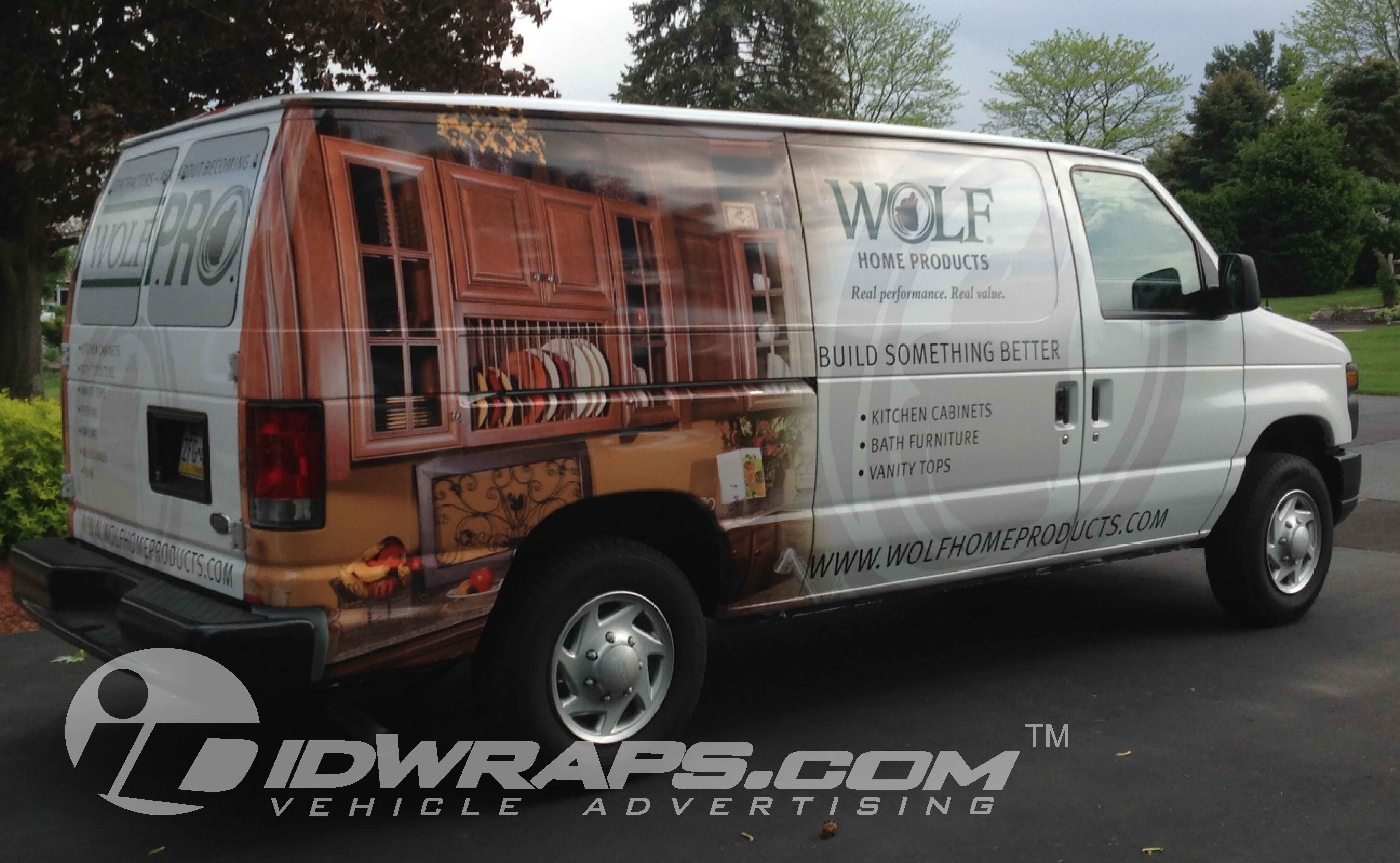 wolf-building-products-e250-van-wrap