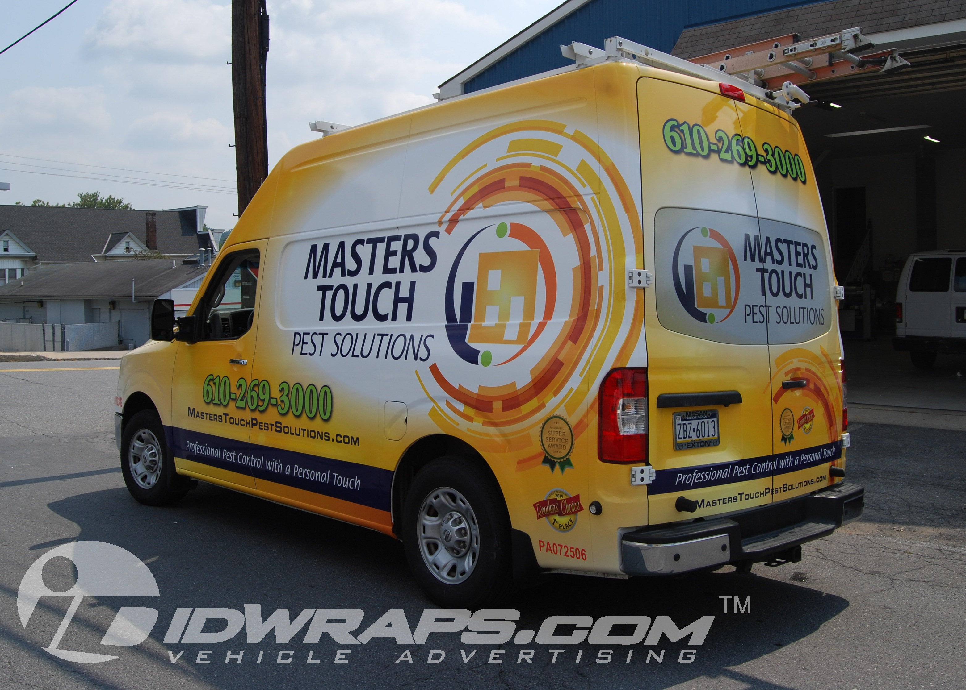Masters Touch Pest Control Nissan NV High Top 3M Vinyl Wrap