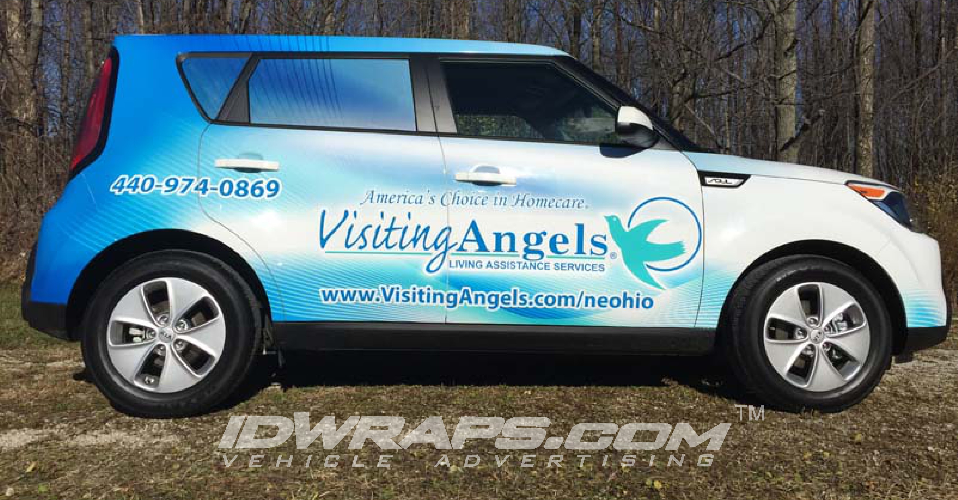 Visiting Angels Mentor OH Kia Soul 3M Vinyl Graphic Wrap