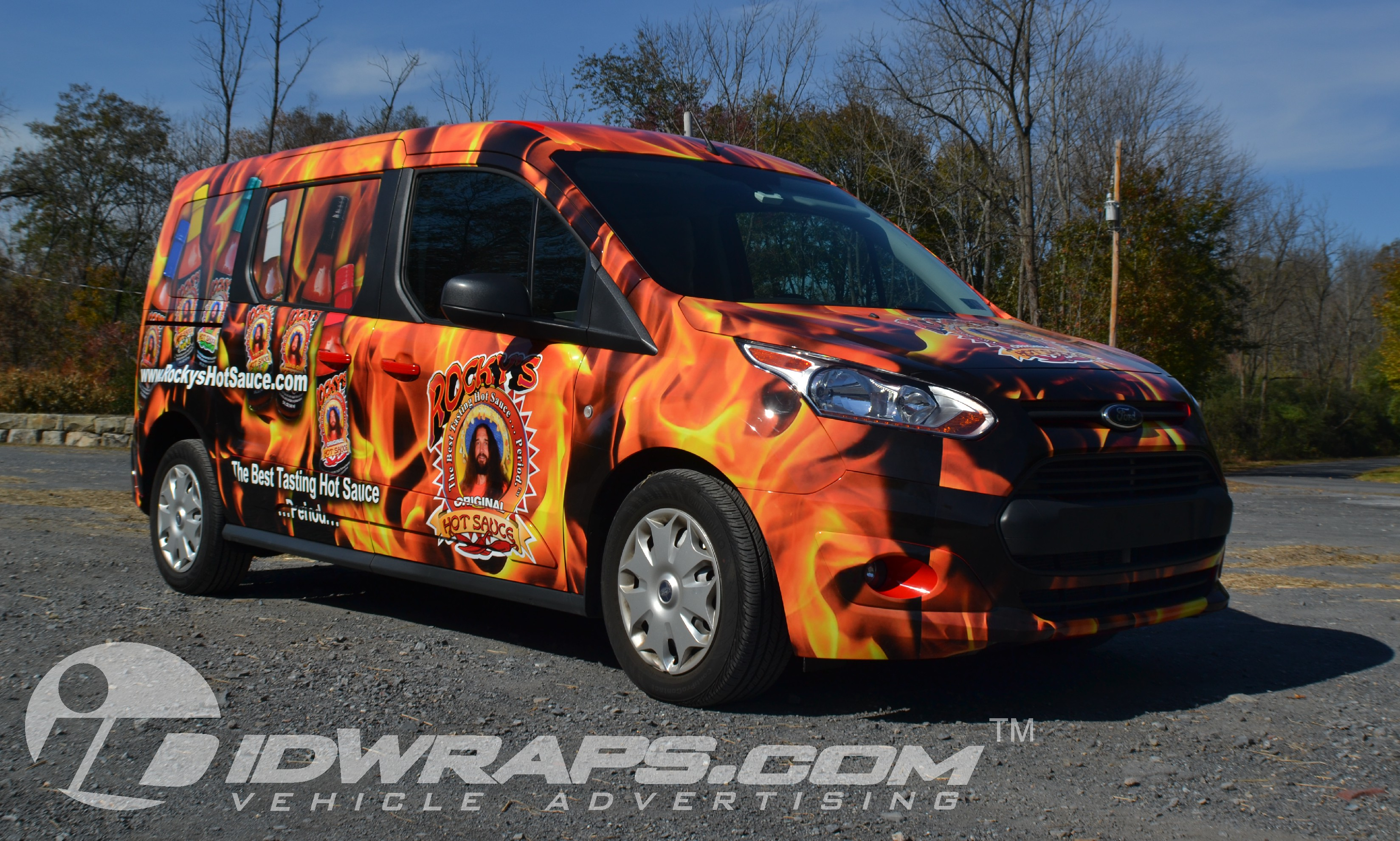 Rockys Hot Sauce 2014 Ford Transit Connect 3M Vinyl Graphic Wrap Full
