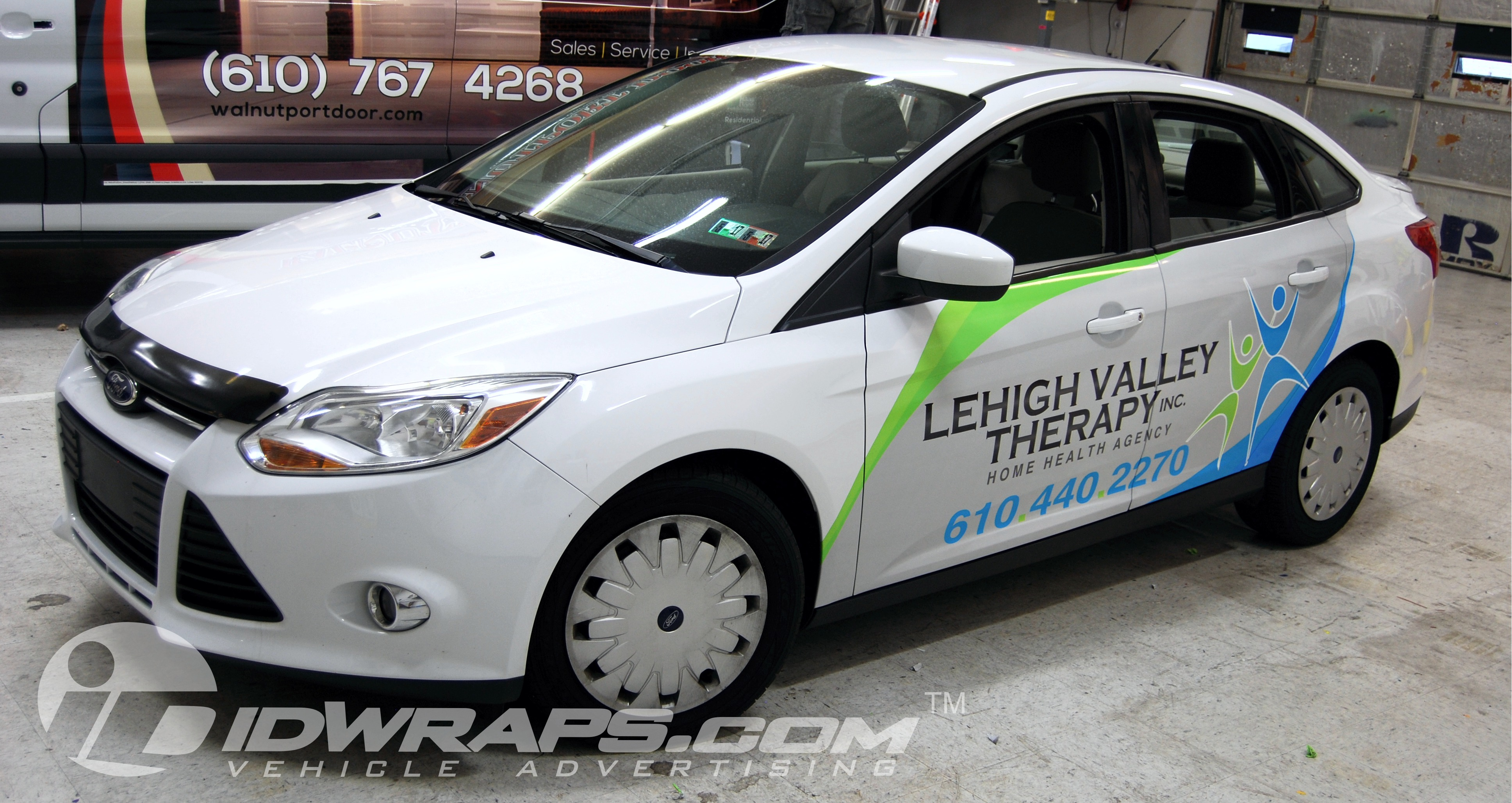 Home Care Wrap Lehigh Valley Therapy Ford Focus Partial 3M Vinyl Graphic