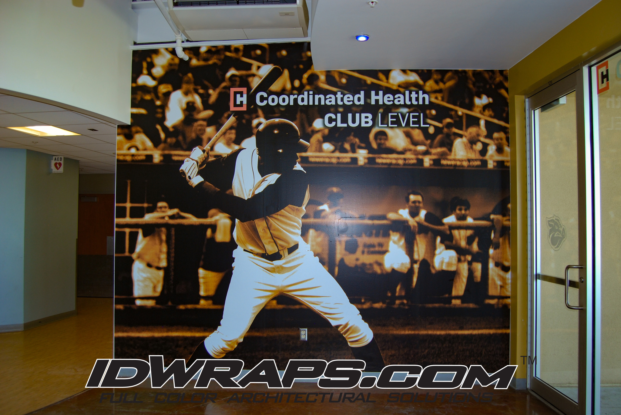 Lehigh Valley Iron Pigs Coordinated Health Club 3M Vinyl Wall Graphic Installation