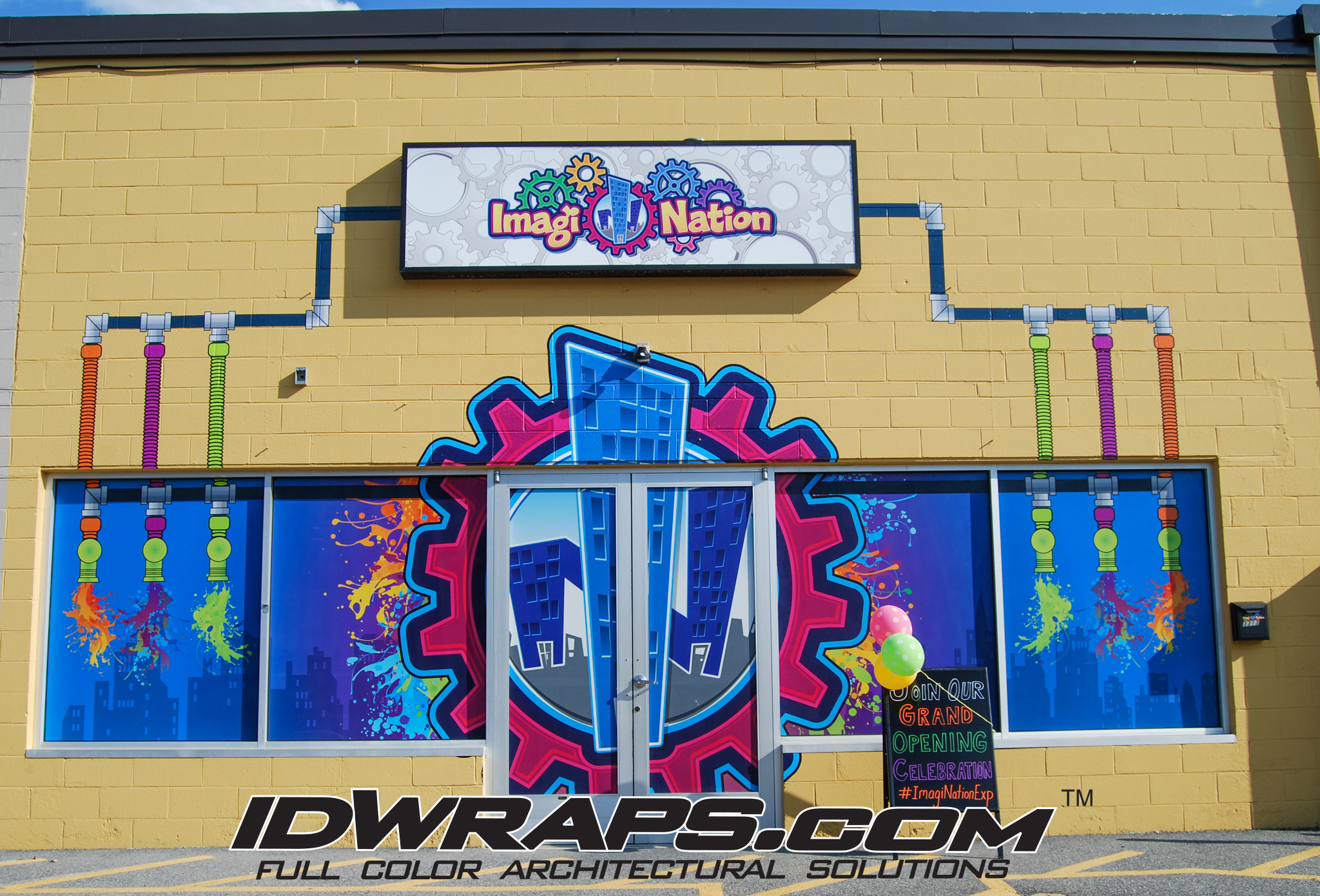 ImagiNation 3M Vinyl Window and Exterior Wall Graphic Installation