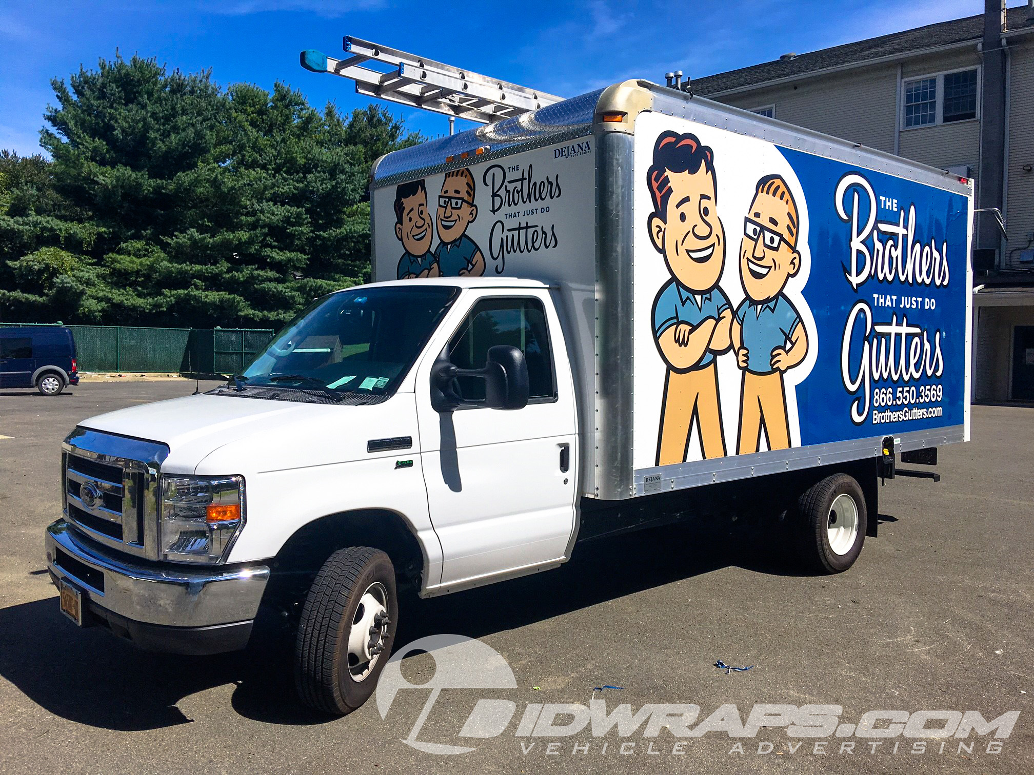 Brothers Gutters 3M Vinyl Graphics Box Truck Wrap
