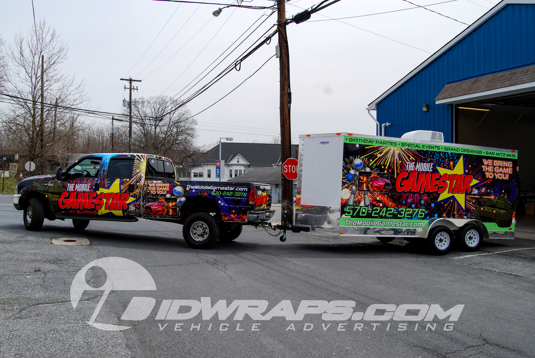The Mobile Game Star 3M Vinyl Graphics Truck and Trailer Full Wrap