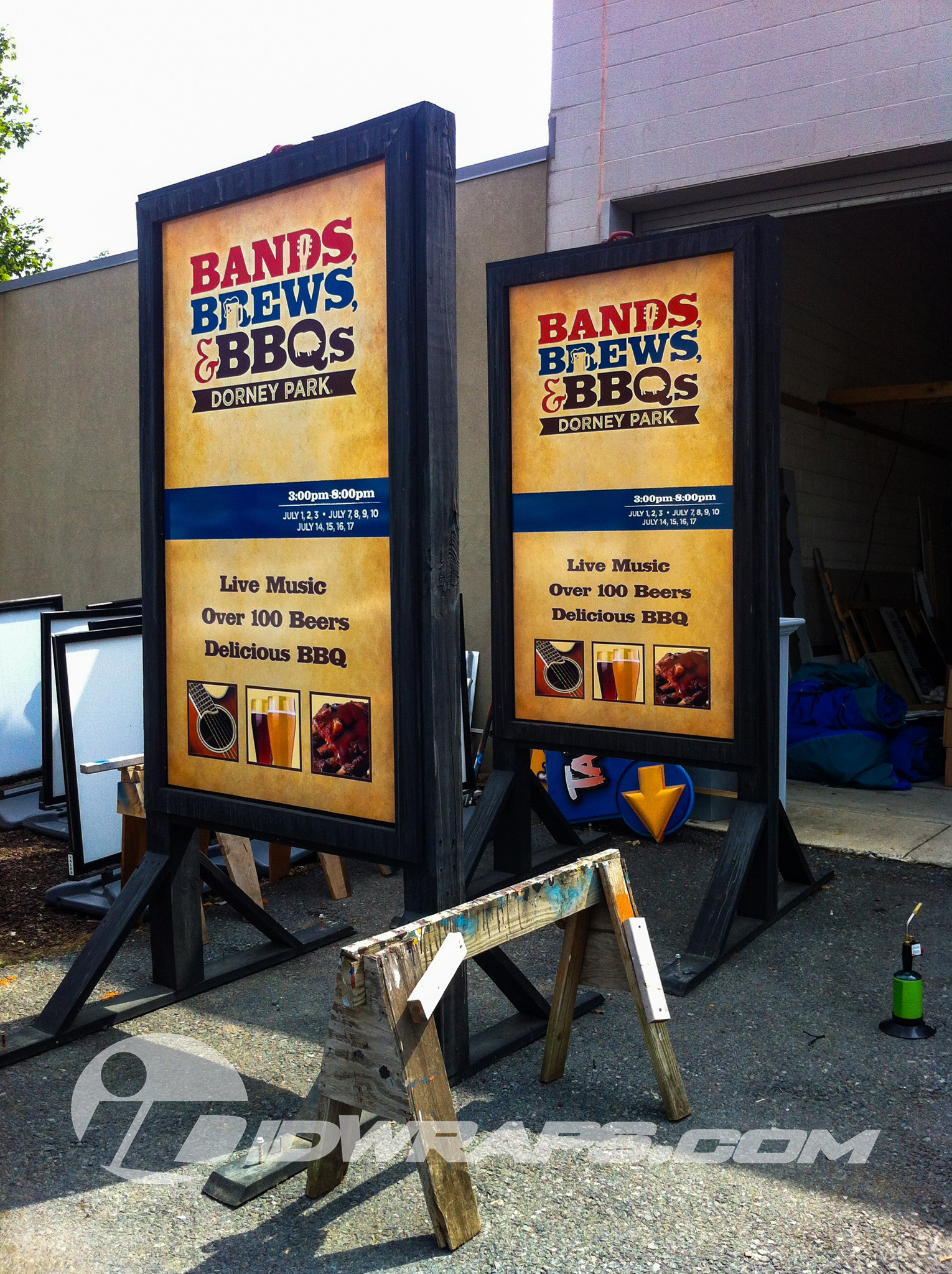 Dorney Park Bands, Brews, and BBQ Custom Printed Signs